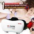 Últimas caja de realidad virtual de vídeo google 3d caso google cartón vr todo en uno gafas 3d para iphone 6 plus all mobile teléfonos