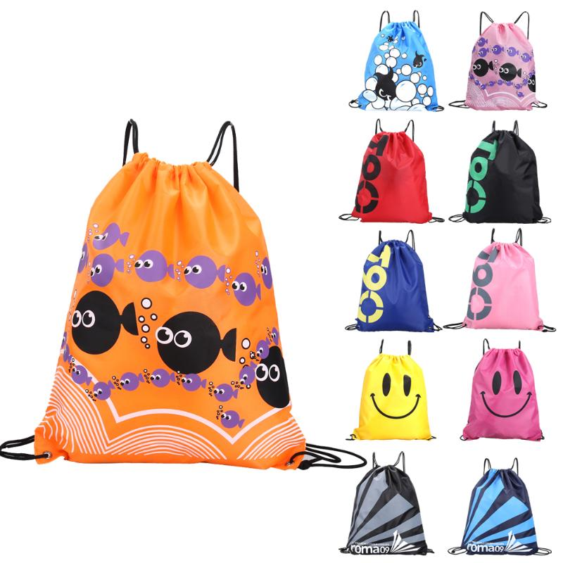34*42cm Outdoor Folding Double Layer Drawstring Waterproof Backpacks Colorful Shoulder Bag Swimming Bags