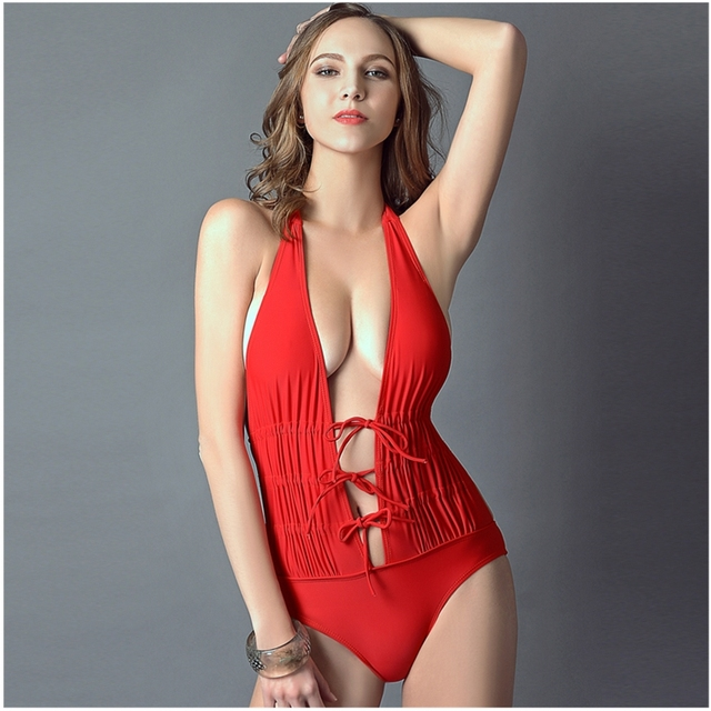 Fashion Red One Piece Swimsuit Women Summer Style Sexy One Piece Swim Suits Womens  Swimwear One Piece Bathing Suit Monokini cb2a6eeed