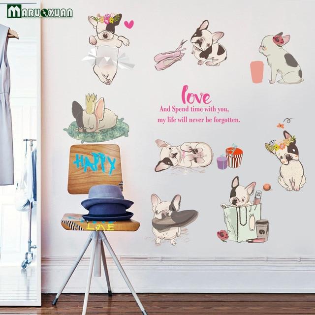 YunXi Leuke Ram Hond Stickers Stok Om De kinderen Slaapkamer Kast ...