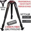 25 kg de Carga Miliboo IronTower MTT703B Câmera De Vídeo Profissional Tripé De Fibra De Carbono 39mm de Diâmetro do Tubo Do Pé