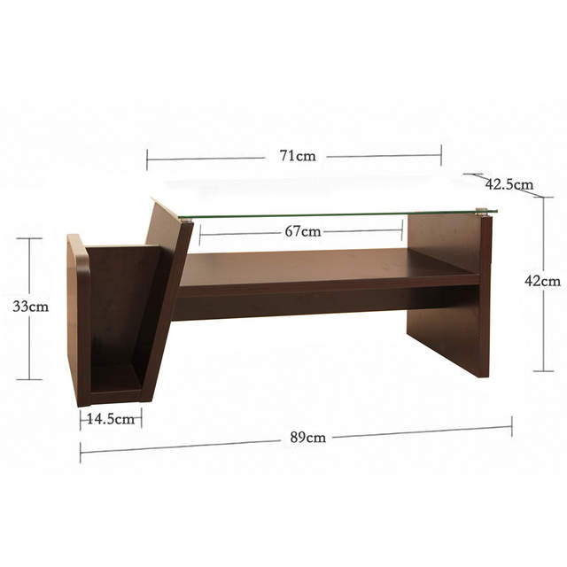 Online Shop Square Glass Surface Of The Small Coffee Table Storage