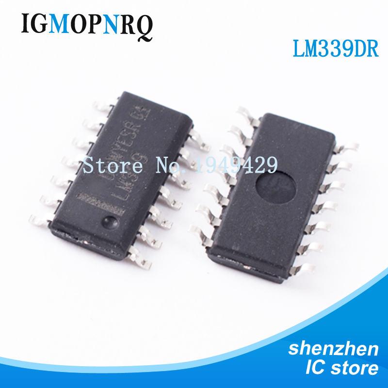50PCS LM339DR SOP14 LM339 LM339DT LM339DR2G  comparator Quad Differential new original free shipping