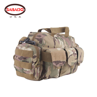 600D nylon outdoor waterproof camouflage satchel hiking handbag camera bag soft waist bags men