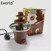 New 3 Layers Mini Chocolate Fountain Creative Design Chocolate Melt With Heating Fondue Machine Electric Dessert Ice Cream Tools