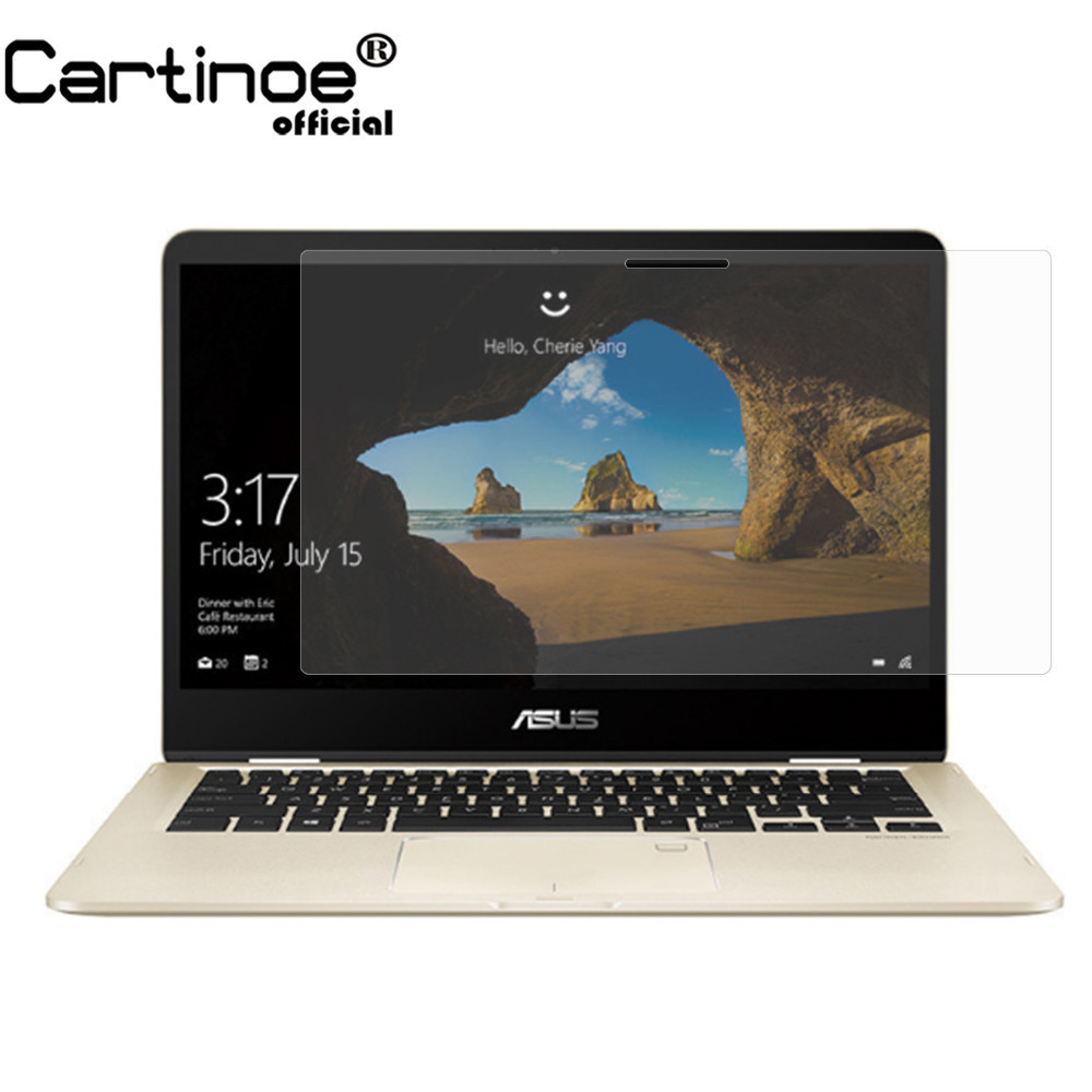 Cartinoe 14 Inch Laptop Screen Protector For Asus Zenbook Flip 14 Ux461un/ua Notebook Screen Filter Guard Film, 2pcs