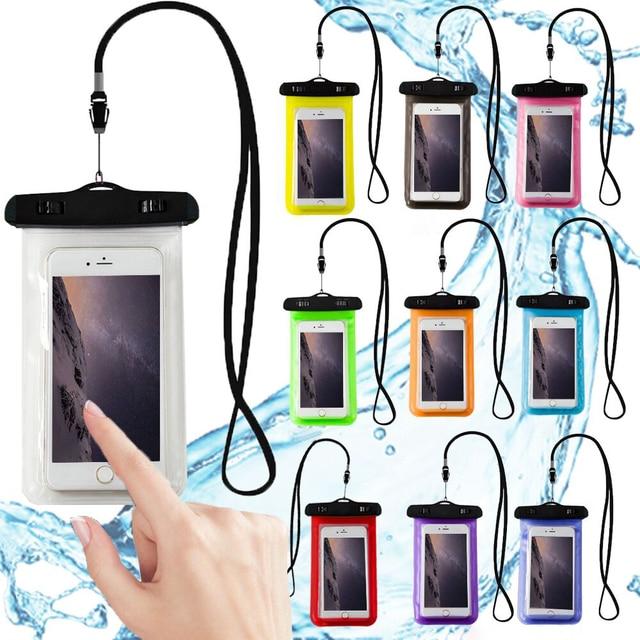 Funda de teléfono impermeable, bolsa para teléfono móvil de PVC sumergible Universal para iPhone X/8 Plus/8/7/6 Samsung nota 8/S8 +/S8 Xiaomi