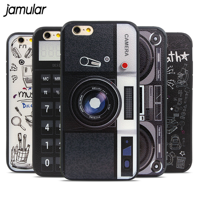 cheaper 18007 2fae4 US $2.49  JAMULAR Vintage Calculator Cassette Recorder Camera Hard Plastic  Case Cover for iPhone 6 6s Plus Covers Back Cases Fundas Coque-in Fitted ...