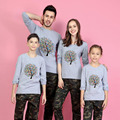 1Piece Family Matching Outfits Print Tree T Shirts 9 Colors Autumn Family Matching Clothes Father & Mother & Kids Family Look
