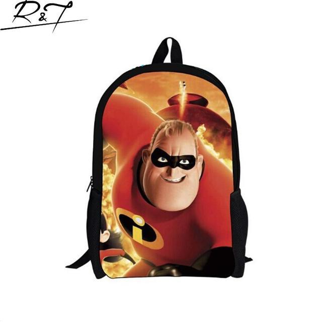 2016 новое прибытие super hero школьные рюкзаки для девочек-подростков, милые рюкзаки для средней школы мальчиков, черный рюкзак mochilas