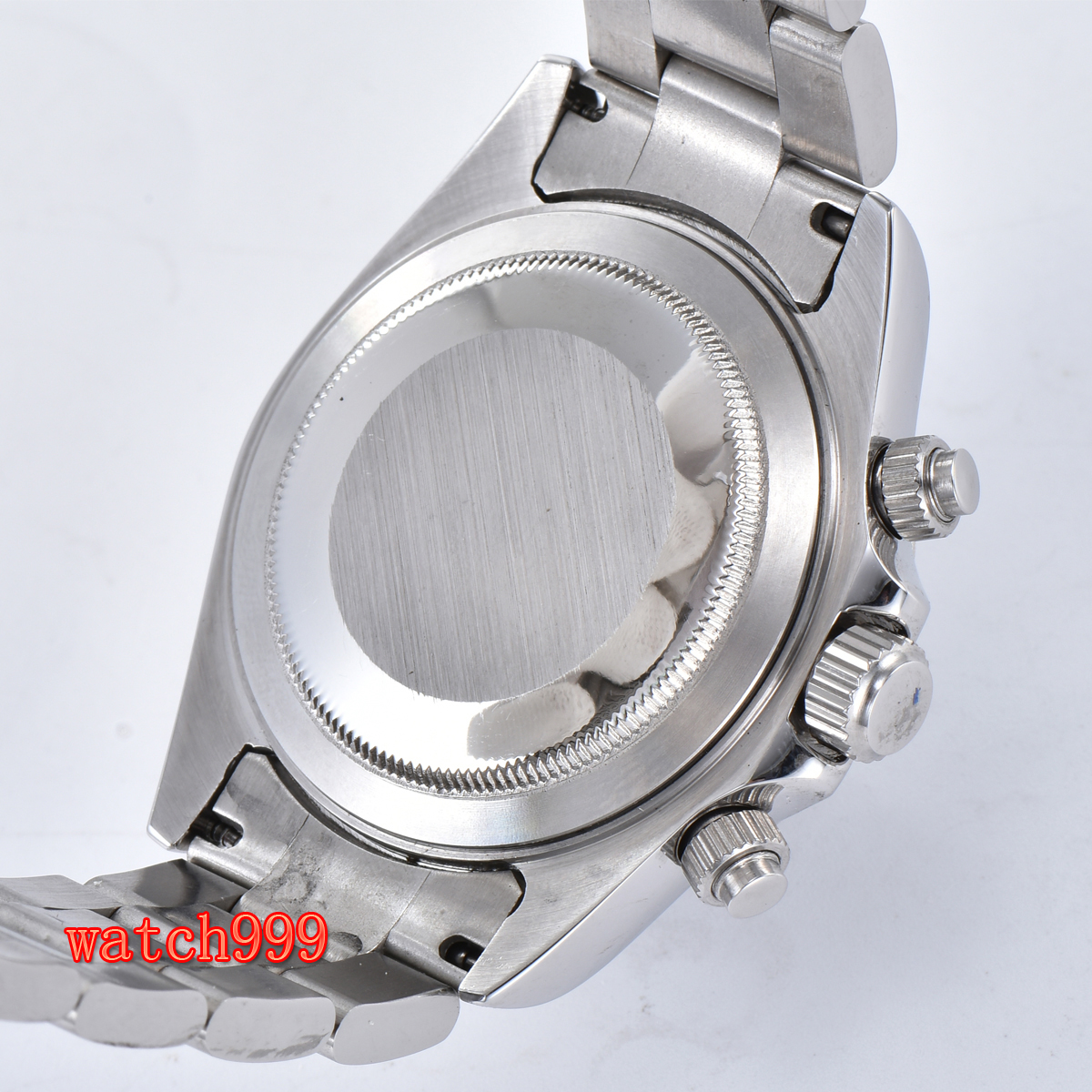 Image 5 - 39mm BLIGER gray dial mineral glass steel case automatic movement  mens casual watch steel strap waterproof mechanical watchMechanical  Watches