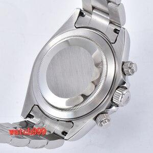 Image 5 - 39mm BLIGER אפור חיוג מינרליים זכוכית פלדת מקרה אוטומטי תנועת גברים של שעון מזדמן רצועת פלדה עמיד למים שעון מכאני