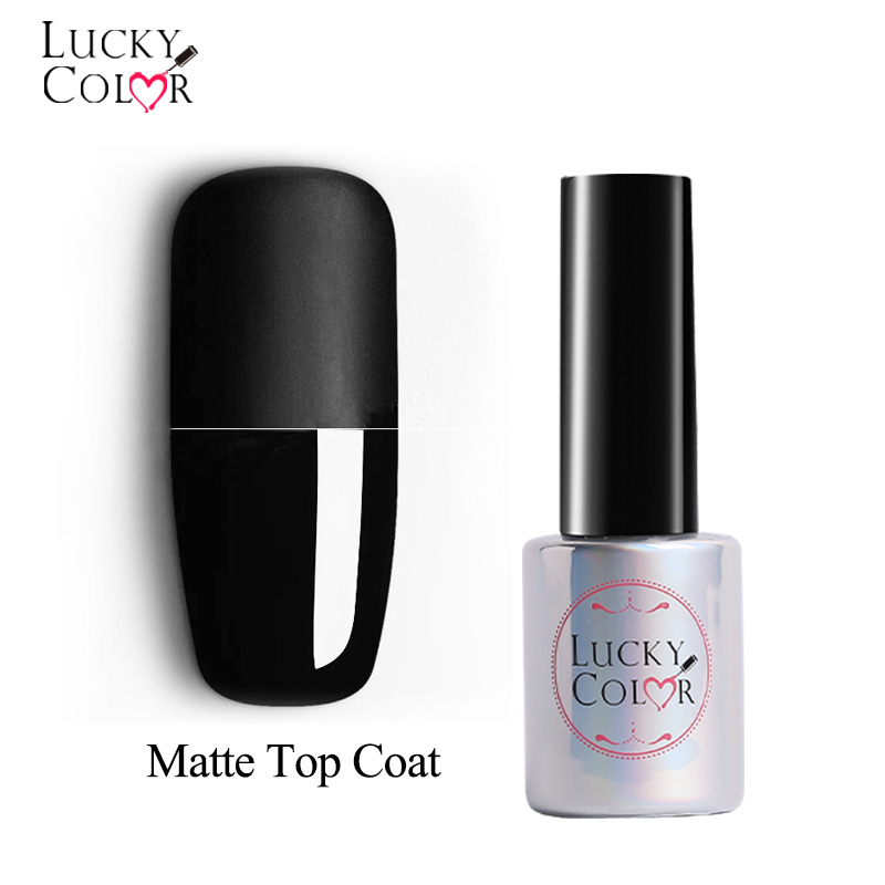 Matte Gel Nail Top Coat Polish Frosted Effect Manicure For UV Nail Lacquer Art Top Gel Varnish 1 Bottle 10ML