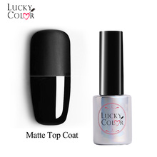 Matte Gel Nail Top Coat Polish Frosted Effect Manicure För UV Nail Lacquer Art Top Gel Lack 1 Bottle 10ML
