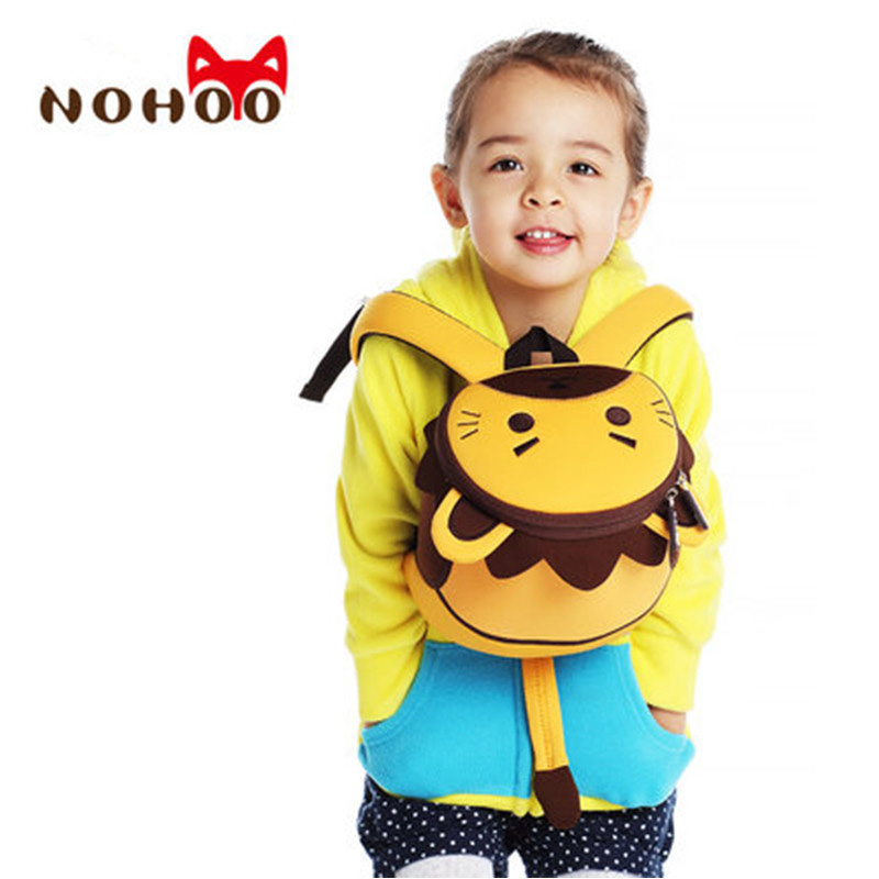 NOHOO 3D Animals Printing School Backpacks for Children Waterproof Cartoon Kids School Bags for Girls Mochila Escolar Toddler's