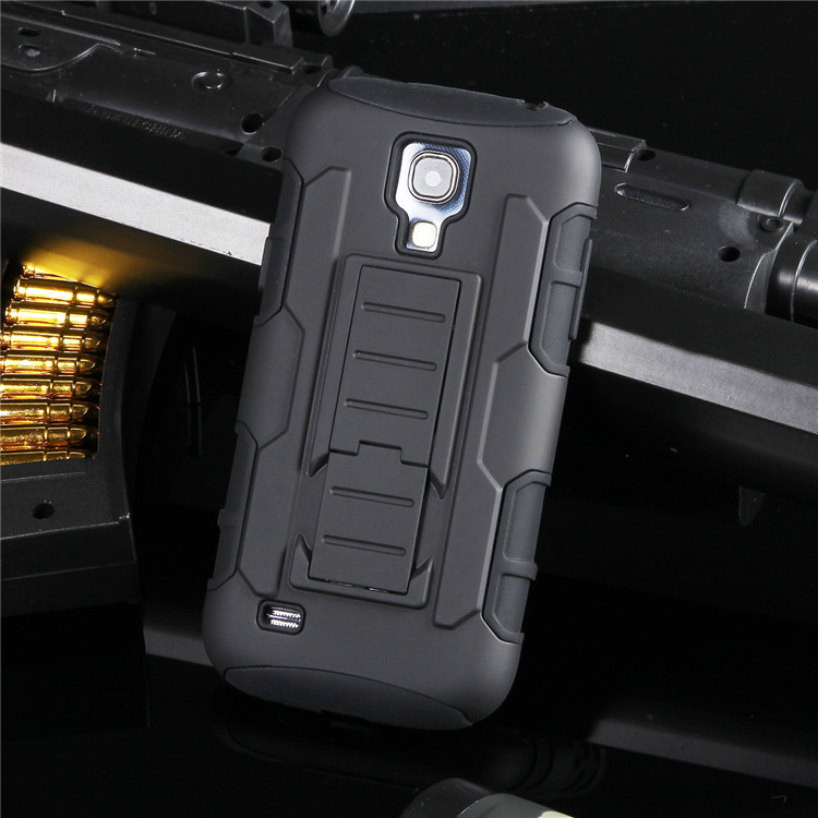 Touch Shock Proof Impact Rugged Hybrid Case For Samsung Galaxy S4mini S4 Mini i9190 Kickstand Belt Clip Armor Phone Back Cover