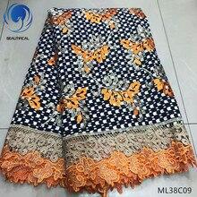 BEAUTIFICAL 2019 wax lace cotton prints ankara high quality guipure cord african fabrics ML38C07-17