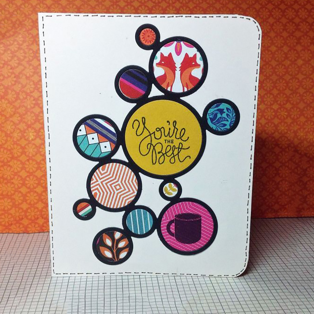 MULTI CIRCLES STENCIL CUTTING DIE FOR CARD MAKING EMBOSSING SCRAPBOOKING NICE
