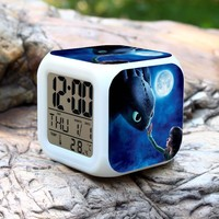 3D Anime The Tower Will Go On Alarm Clock How To Train Your Dragon Alarm Clock