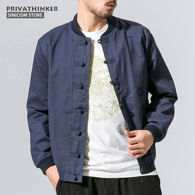 b44e49aaefa Sinicism Store 5XL 100%Cotton Bomber Jacket Men Windbreaker 2017 Autumn Male  Chinese Traditional Style Jacket Coat Size Plus