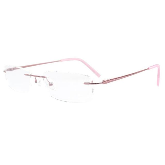 Eyekepper FLQ-1411 Estilo Óptico Óculos de Armação Sem Aro De Titânio Meia-olho