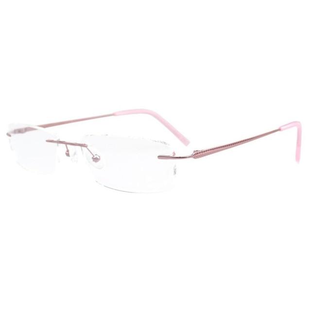 1202b7b5c493 FLQ-1411 Eyekepper Rimless Titanium Half-eye Style Optical Eyeglasses Frame