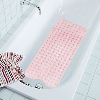 Hot Sale PVC Large Bathtub Non Slip Bath Mats With Suction Cups Bath Shower Mat For
