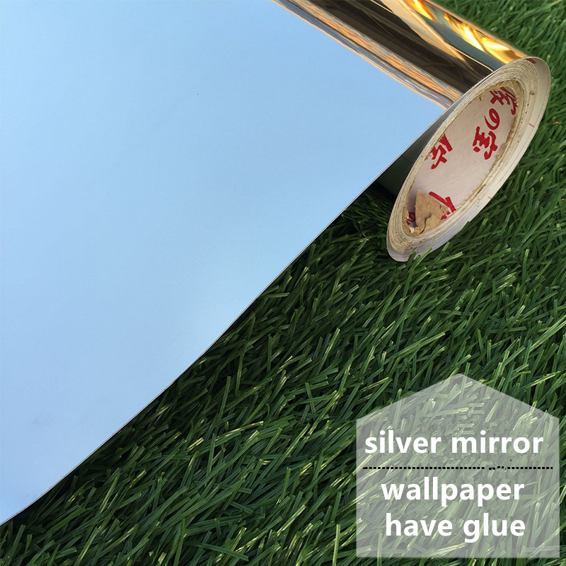 120cm Wide New Mirror Sticker Furniture Renovation Silver Dance Reflective Glass Stickers PVC Stickers Self-adhesive Wallpapers
