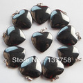 10pcs Beautiful Hematite Heart Pendant Bead R00019904
