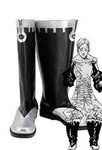 The Seven Deadly Sins Lions Sin of Pride Escanor Cosplay Boots Black Shoes Custom Made Any Size for Boys and Girls