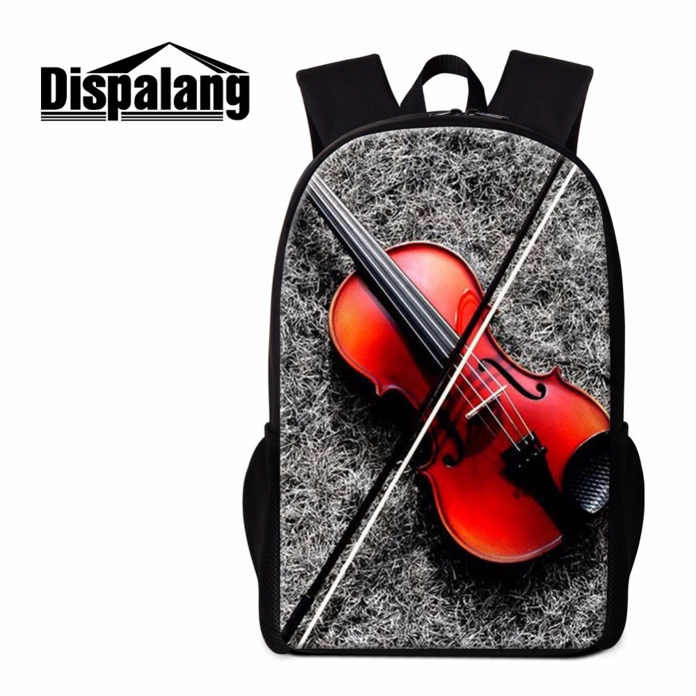 Dispalang Violin Backpack Cool School Bookbags for Teenagers Fashion Girly Rucksacks Stylish Mochilas Shoulder Back Pack Bagpack