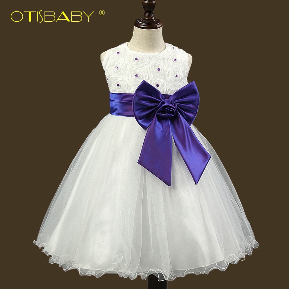 2016 Hot Flower Girl Dresses for Weddings Pageant White First Holy Lace Communion Dress Little Toddler Junior Child Bridesmaid