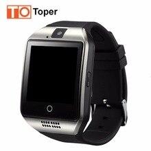 Q18 Bluetooth Reloj Inteligente Con Cámara Smartwatch Apoyo SIM/TF Tarjeta Multi-idioma Para El Teléfono Android Monitor de Sueño en Sttock