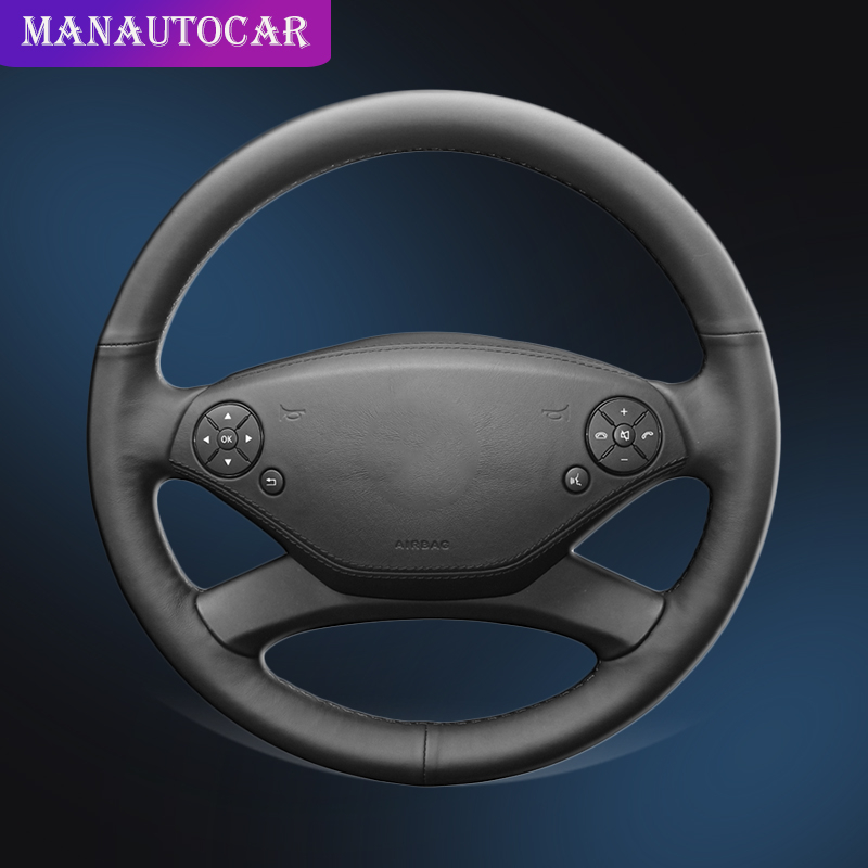 Auto Braid On The Steering Wheel Cover For <font><b>Mercedes</b></font> Benz S300 350 400 <font><b>500</b></font> 600 2010-2013 <font><b>CL</b></font>-Class 2011 Car Steering Wheel Cover image