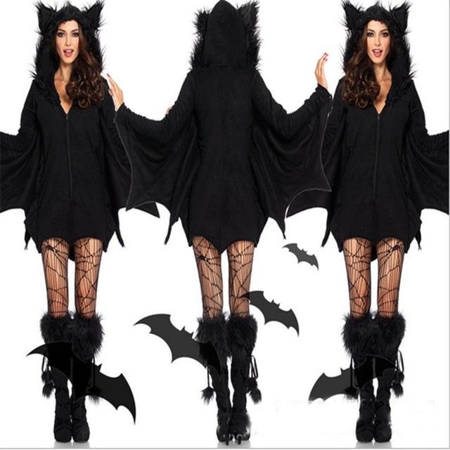2018new Sell likehot cakes Sexy Halloween Costumes for girl Moonlight Bat CostumeBest Selling Bat Women's Halloween CostumeWomen