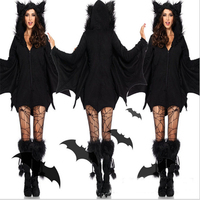 2018new Sell likehot cakes Sexy Halloween Costumes for girl Moonlight Bat CostumeBest Selling Bat Women's Halloween CostumeWomen