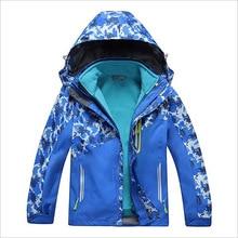 2016 New Autumn Winter Children Outdoor Jacket Waterproof Windproof Thermal Trench Coat Boy Girl Sport Jackets