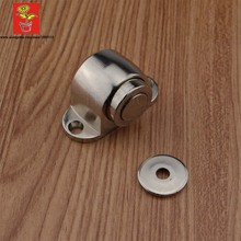 CHICOO Easy Installation Building Decoration Magnetic Doorstopper Floor Mount Satin Nickel