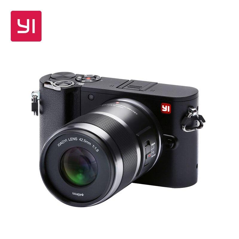 YI M1 беззеркальных цифровой Камера международная версия Сменный объектив с фиксированным фокусным расстоянием 20 Мп с ЖК-дисплей сенсорный ...