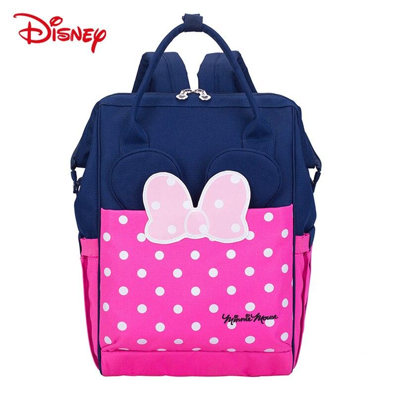 Disney Novo Autêntico de Isolamento Sacos de Fraldas Mamãe Mochila Minnie Mickey Bebê de Alimentação de Viagem Grande Capacidade Saco de Fraldas Múmia