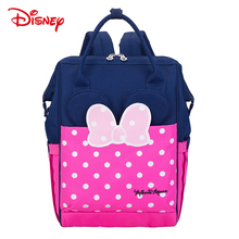 Disney New Authentic Diaper Mommy Backpack Insulation Bags Minnie Mickey Big Capacity Travel Feeding Baby Mummy Nappy Bag disney new upgraded version mickey and minnie insulation bag top capacity baby feeding bottle bags diaper bags oxford usb bags