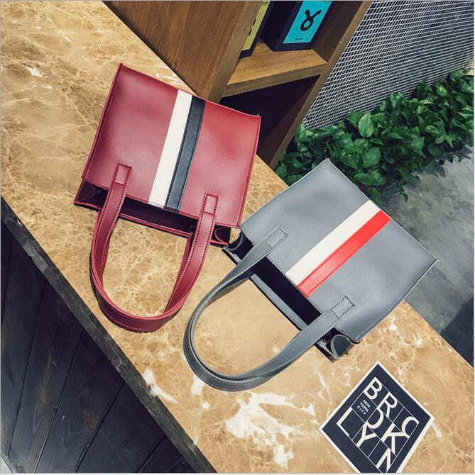 Customized Trip Drop shipping Vintage PU Shoulder handbag Female Causal Totes for Daily Shopping All Purpose High Quality Dames in Shoulder Bags from Luggage Bags