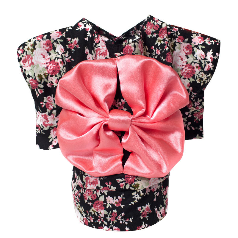 Japanese Style Ethnic Dog Clothes Puppy Pet Costume Cute Floral Cat Dog Coat Japan Kimono for Doggy Kitten Cotton Chihuahua Suit