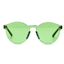 Peekaboo one piece lens sunglasses women transparent plastic glasses
