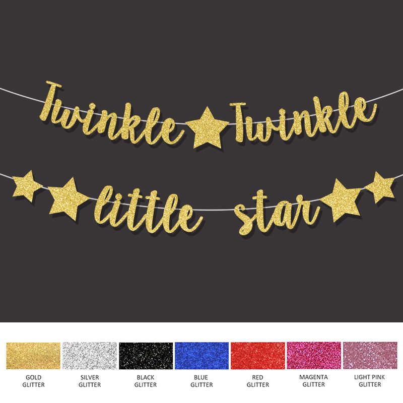 Twinkle Twinkle Little Star Banner Boy Girl Gender Reveal