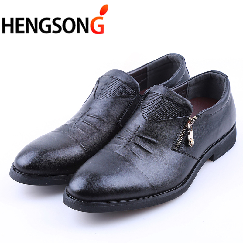 c0a59c1aeb4 6 Styles Mens Dress Shoes High Quality Business Shoes For Men Shoes Pointed  Toe Slip-on Men Wedding Shoes Flats Plus Size 38-46