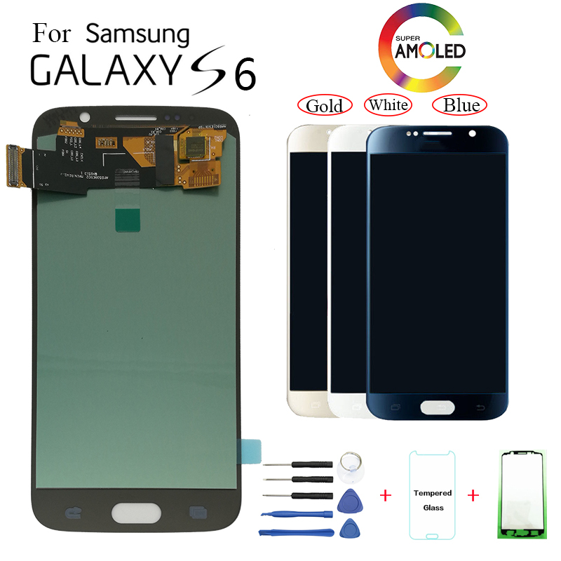 AMOLED For Samsung Galaxy S6 G920F G9200 LCD Display Screen replacement for Samsung SM-G920FD G920W8 display lcd screen moduleAMOLED For Samsung Galaxy S6 G920F G9200 LCD Display Screen replacement for Samsung SM-G920FD G920W8 display lcd screen module