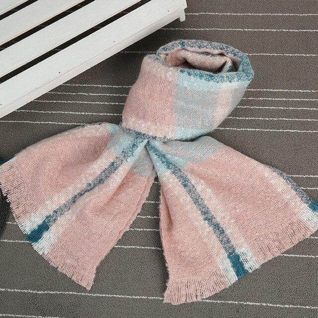 2017 г. модные зимние шарф для женщин шарф женский Echarpes теплый мягкий кашемир Bufandas теплым пледом Высокое качество D806
