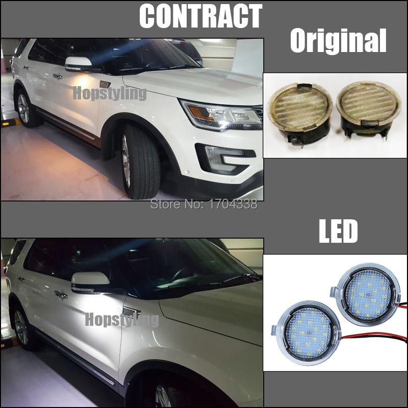 Pārvietošanās 2x Ford LED zem spoguļa skaļruņa F-150 EDGE - Auto lukturi - Foto 2