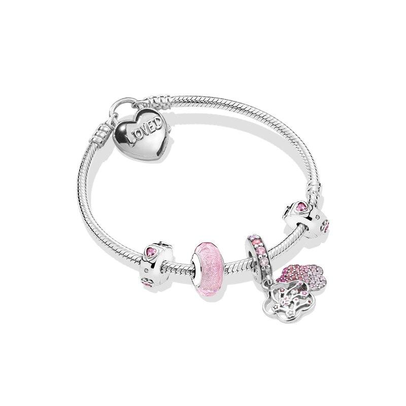 100% 925 argent pur Original copie 1:1 fleur de pêche amour langue Bracelet fabricants lot Direct affranchissement gratuit